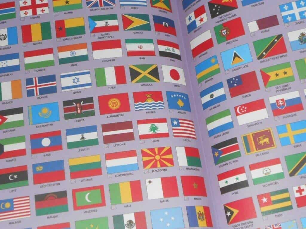Flag page in French dictionnary