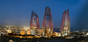 Flame Towers, Baku, Azerbaijan